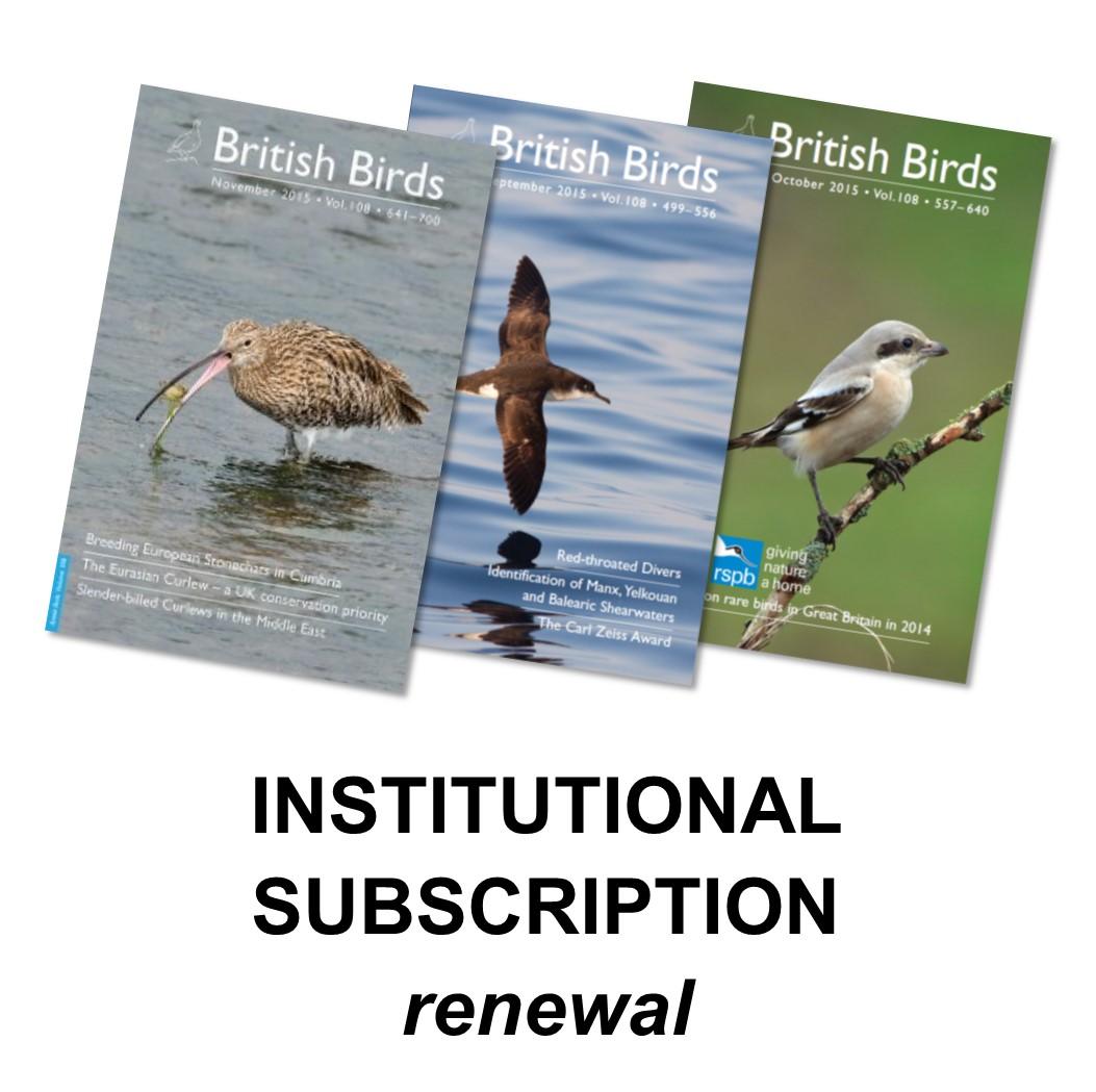 Subscription Renewals Archives - British Birds